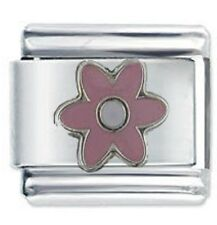 PINK DAISY FLOWER - Daisy Charm Italian Charms fits Nomination classic bracelet