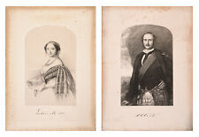 Queen Victoria and Prince Albert Pair of Antique Prints