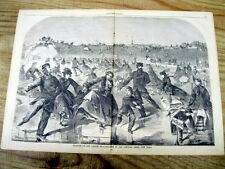 <1860 newspaper LARGE POSTER Winslow Homer VIEWS OF CENTRAL PARK New York City