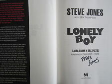 Steve Jones autographed signed auto Lonely Boy hardcover 1st ed book Sex Pistols