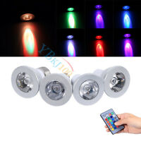3W E27/E14/GU10/GU5.3 RGB LED Light Color Changing Lamp Bulb With Remote Control