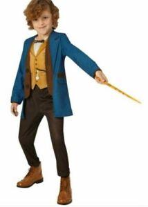 Official DELUXE NEWT SCAMANDER Fantastic Beasts Costume & Wand Kids Fancy Dress