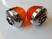 2 x Amber Front Indicators with stanley lenses for  Honda C50 C70 Cub