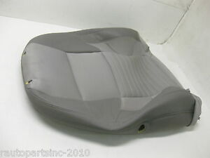 2005 VOLVO S40 PASSENGER SEAT FABRIC COVER UPPER CLOTH OEM GRAY FRONT RIGHT