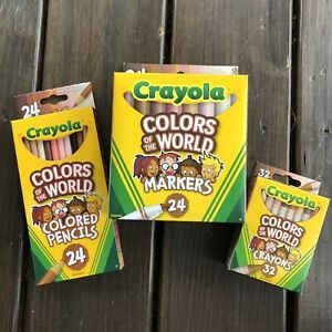 Lot Bundle Crayola Colors of the World Multicultural Crayons Marker Pencils