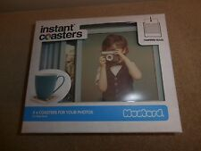 Instant Photo Coasters Set of 4  Polaroid Style Picture Mats