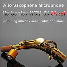 Alto Saxophone Microphone Nalbantov NCM 8X SA set - Pickup System, Cable, Neck