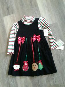 Girls Size 6 Christmas Holiday Dress By Bonnie Jean