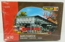 FALLER #131279 HO Train Building Kit Covered Footbridge Platform 89 Pieces NIB