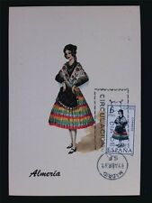 SPAIN MK 1967 TRAJES ALMERIA TRACHT COSTUMES MAXIMUMKARTE MAXIMUM CARD MC c6078