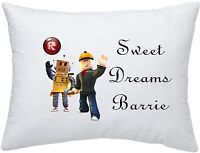 ROBLOX ROBOTMAN & BUILDER PERSONALISED PILLOWCASE