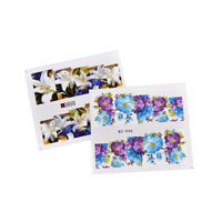 Set 50 Pcs Decal Water Transfer Manicure Nail Art Stickers Diy Tips Decor GF