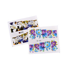 Set 50 pcs Decal Water Transfer Manicure Nail Art Stickers DIY Tips Decoration~