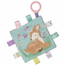 """Mary Meyer Taggies Paper & Squeaker Crinkle Me 6""""x6"""" Baby Toy - Flora Fawn"""