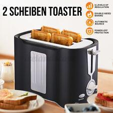 750Watt Edelstahl 2 Scheiben Toaster Doppelt Toast Toastautomat Küchenzubehör DE