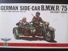 BANDAI 8227 German side-car BMW r/75 with 3 Soldiers/spedizione combinata possibile
