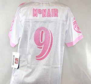 Youth Kids Girls Reebok NFL Baltimore Ravens Steve McNair #9 White Pink Jersey