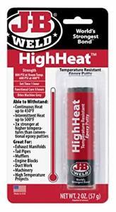 J-B Weld 8297 HighHeat 550 Degree Epoxy Putty Stick - 2 oz.