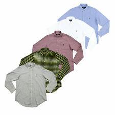 Polo Ralph Lauren masculina ajuste clássico Oxford Botão No Camisa Manga Longa Camisa PRL