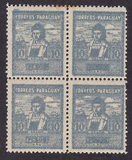 Paraguay 1927 - Columbus 10 Peso - Block of 4 - SG317 - Perf - Mint  (B12C)