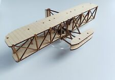 Wright Flyer Biplane 1903 Laser Cut Wood Kit for Self Assembly