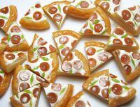 50 Dollhouse Miniature Pepperoni Pizza Slices *Doll Mini Tiny Food Wholesale Lot
