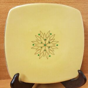 """Target Home HOLIDAY COUTURE Square Appetizer plate, 6"""", Gold, Very good"""