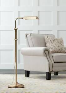 Traditional Pharmacy Floor Lamp LED Brass Adjustable For Living Room Reading