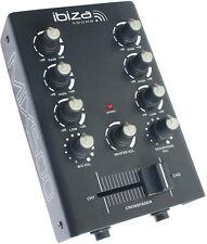 Ibiza Sound DJ Mixer MIX500 2ch Audio Sound Disco