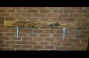 Oak mantel shelf