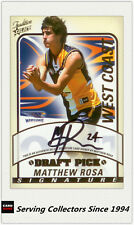 2005 Select AFL Tradition Draft Pick Signature Card DS29 Matthew Rosa(West Coast