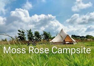2 night stay in our 5 Mtr Canvas Bell Tent, fire pit,BBQ,Short Breaks & Holidays