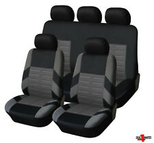 Vw Golf Polo Full Set Grey Car Seat Covers Soft Breathable Fabric Protectors
