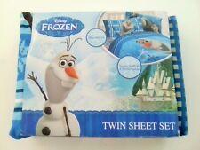 New Disney Frozen Olaf Microfiber Twin Bedding Sheet Set 3pc BLUE ($49.99)