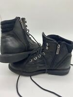 HARLEY DAVIDSON LEATHER  ZIPPER ANKLE HEIGHT MOTORCYCLE BOOTS 93041 MENS 8.5
