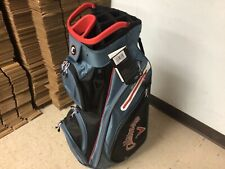 MINT 2021 CALLAWAY ORG 14 CART BAG / BLACK SHALE RED / WITH RAIN COVER