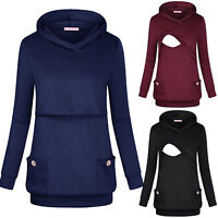 Women Pregnant Hoodie Sweatshirt Maternity Feeding Nursing Tops Outwear Clothes