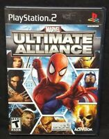 Marvel: Ultimate Alliance PS2 Playstation 2 COMPLETE Game 1 Owner Near Mint Disc