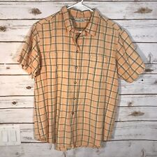 Abercrombie And Fitch Men's Short Sleeve Button Down Cotton Plaid Shirt Small
