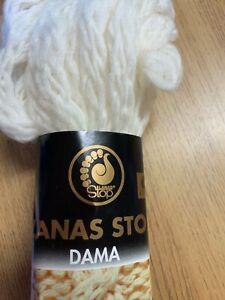 * SALE*Lanas Stop Dana RRP £4.45 (10 balls 20m Cream 100% Lana Merino Wool )
