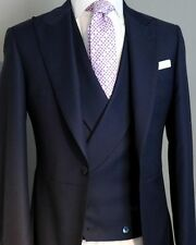 New Groom Tuxedos wth Double Breasted Waistcoat and Pants Prom Wedding Men Suits