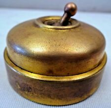 Vintage Electric switch Ceramic & Brass Crabtree Vitreous English Collectibl #1