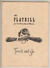 """""""Touch and Go""""   Playbill  1949   Broadway  Peggy Cass, Nancy Andrews"""
