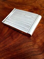E-Z Ope American 20thC Sterling Silver Double Hinged Matchbook Case; No Monogram