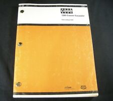 CASE 1280 Crawler Excavator Tractor Parts Manual Catalog Book Guide List OEM