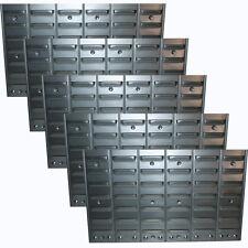 5er Set Metall-Wandregal f.Sichtboxen Schraubenregal Schlitzwand Kleinteileregal