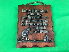 altes Schild mit Spruch, Deko, (G)13254
