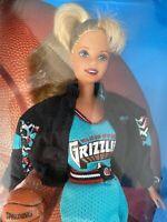 "Mattel 1998 NBA Barbie Vancouver Grizzlies Basketball Uniform 11"" Doll NRFB"