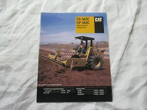 CAT Caterpillar CS-563C CP-563C vibratory compactor brochure