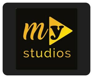 """MY STUDIOS Official Logo Computer Mouse Pad - Black 7.5"""" X 9"""""""